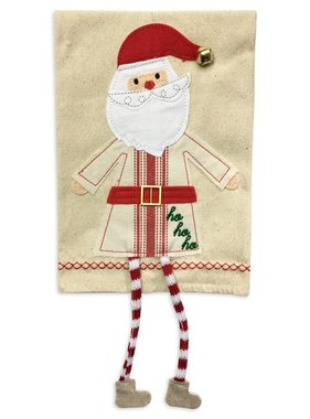 Santa Dangle Leg Christmas Towel