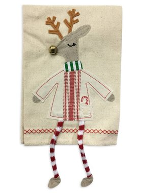 Reindeer Dangle Leg Christmas Towel