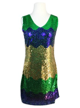 Mardi Gras Sequins Party Dress