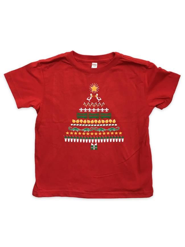 Cajun Christmas Tree Tee