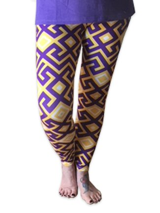 College Leggings, Geometric