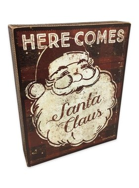 Here Comes Santa Box Sign