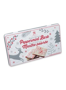 Peppermint Bark Winter Scene Tin