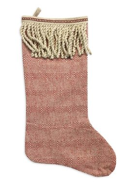 Cotton Fringe Christmas Stocking