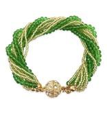 Green & Gold Twist Strand Bracelet