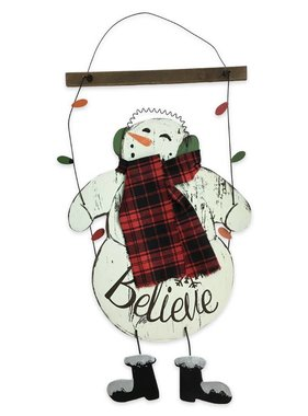 Swinging Snowman Wall Hanging