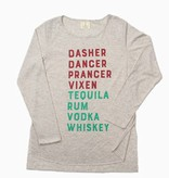 Dasher Dancer Vodka Whiskey Long Sleeve Tee