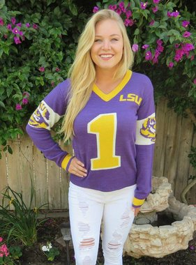 LSU Tigers Jersey Sweater