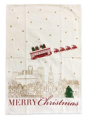 Nola Tawk NOLA Merry Christmas Towel