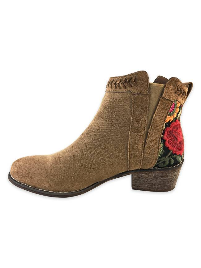 Suede Tapestry Boot, Camel