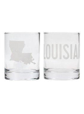Louisiana Rock Glass Set