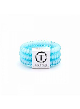 Teleties 3 pack Small, Surf Spray Turquoise