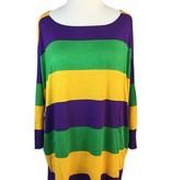 Mardi Gras Stripe Long Sleeve Shirt