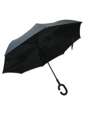 Topsy Turvy Inverted Umbrella, Black