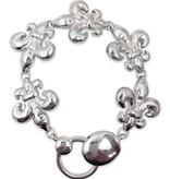 Hammered Fleur de Lis Bracelet