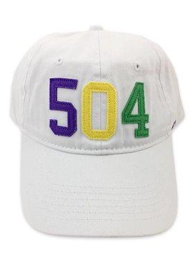 504 NOLA Baseball Cap, Mardi Gras