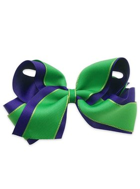 Mardi Gras Metallic Edge Hair Bow