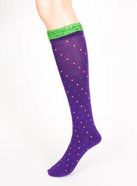 Ruffle & Dot Mardi Gras Socks