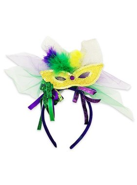Mardi Gras Mask Headband