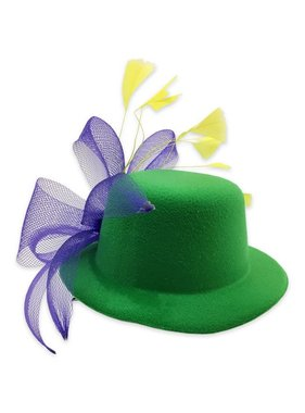 Mardi Gras Mini Hat with Bow