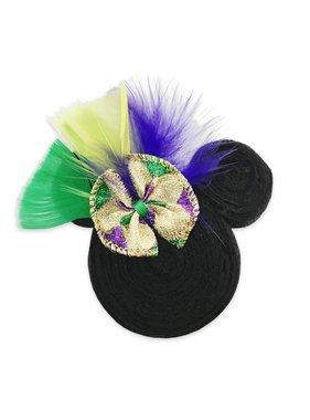 Mardi Gras Mouse Hair Bow