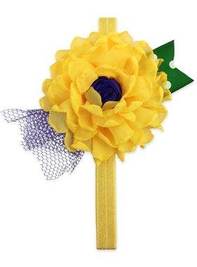Mardi Gras Flower Headband, Yellow