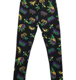 Mardi Gras Mask Leggings, Regular