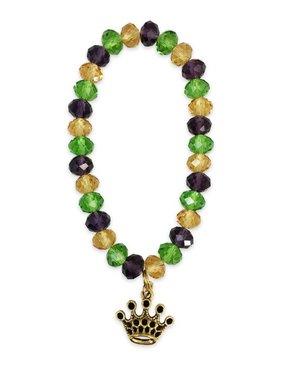 Mardi Gras Crown Stretch Bracelet