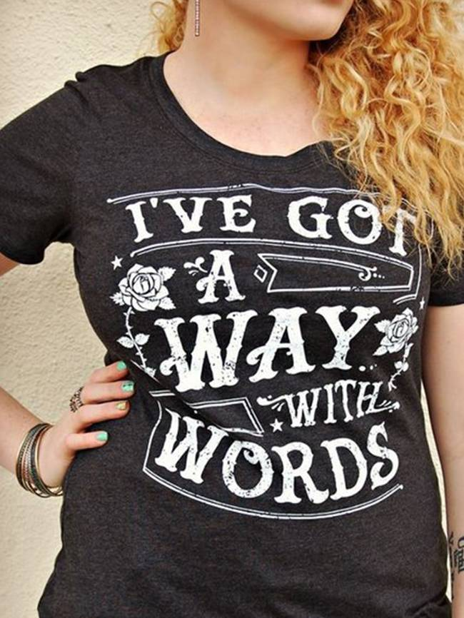 Way With Words Tee, White