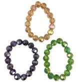 Mardi Gras Stackable Bracelets, Large