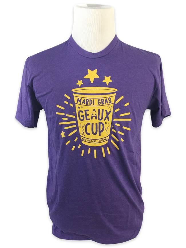 Mardi Gras Geaux Cup Tee