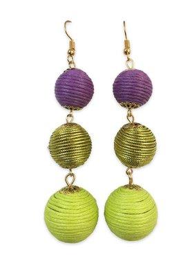 Mardi Gras Ball Earrings