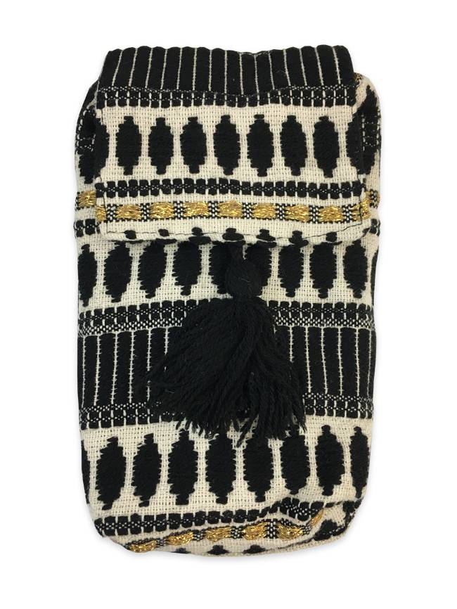 Black & Gold Crossbody Mini Bag