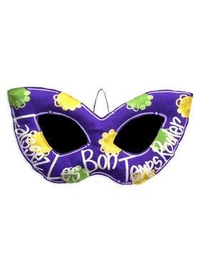 Mardi Gras Mask Door Hanger