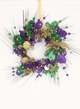 Mardi Gras Fleur de Lis Wreath