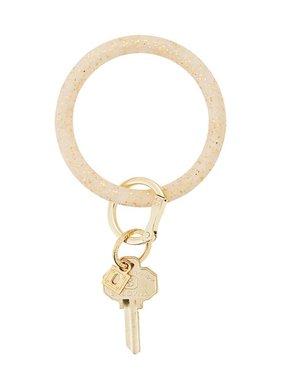Gold Confetti Silicone Keyring Bracelet
