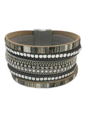 Grey Blackstone Cuff Bracelet