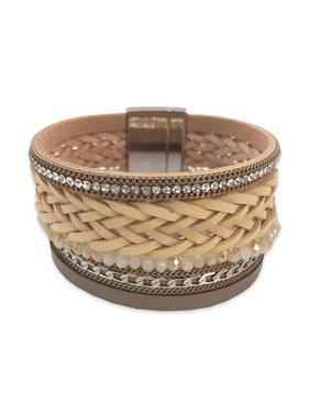 Tan Woven Cuff Bracelet