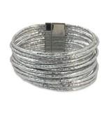 Silver Metallic Cuff Bracelet