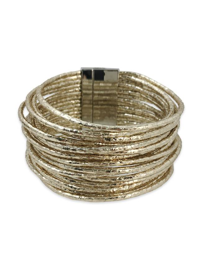 Gold Metallic Cuff Bracelet