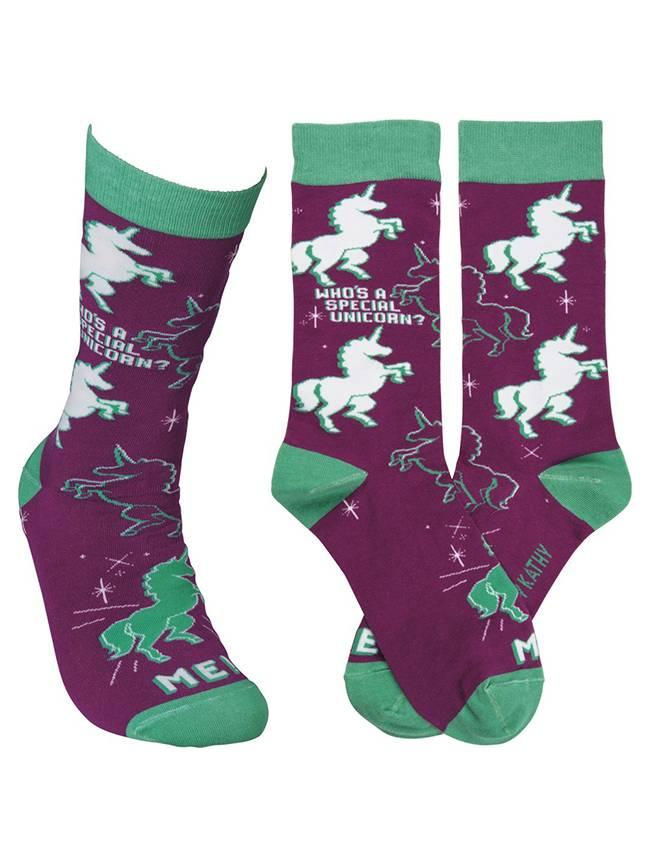 Who's A Special Unicorn? Socks