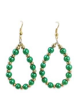 St. Patrick's Day Pearl Teardrop Earrings