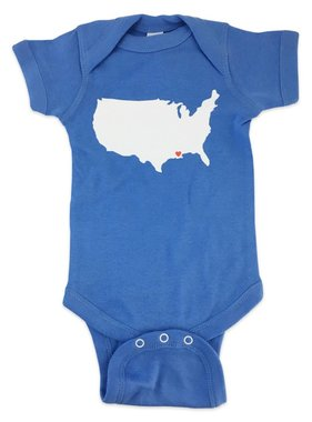 USA Love Louisiana Onesie