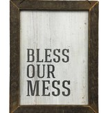 Bless Our Mess Wall Art