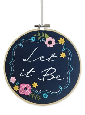 Let It Be Wall Art Hoop