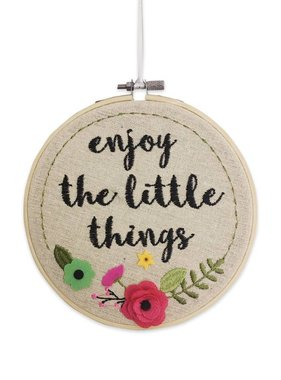 Enjoy The Little Things Wall Art Hoop