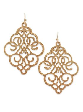 Bold Filigree Earrings in Gold