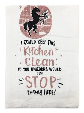 Primitives by Kathy Kitchen Clean Unicorns Towel