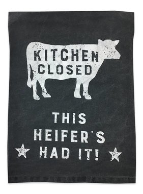 Primitives by Kathy This Heifer's Had It Towel