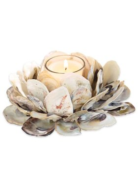 Oyster Shell Votive Holder